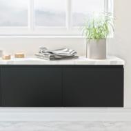 Petit meuble de salle de bain element bas sdb pas cher oskab - Element bas salle de bain ...
