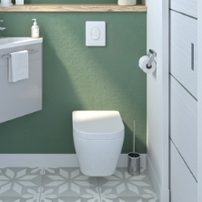 Meuble lave main, WC, abattant toilette - Oskab