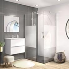 Ensemble salle de bain, lave main, plan vasque, miroir - Oskab
