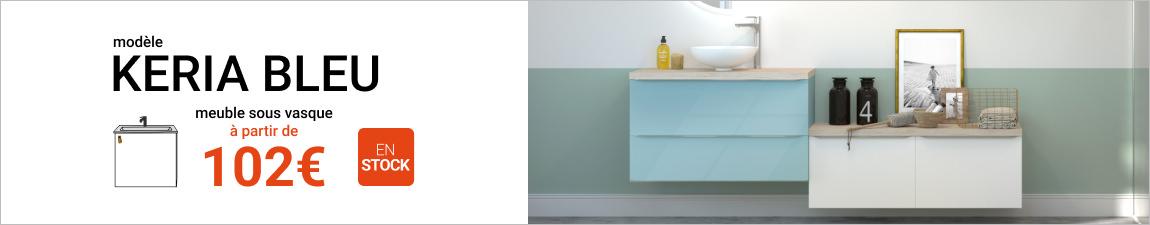 Meuble Salle De Bains KERIA Bleu Achat Modèle De
