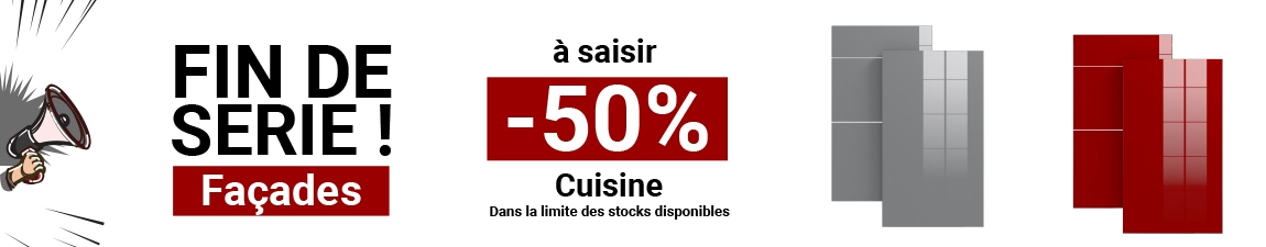 Cuisine rouge moderne fa ade stecia rouge brillant oskab Facade meuble cuisine largeur 50