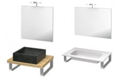 Ensemble salle de bains vasque à poser et plan vasque