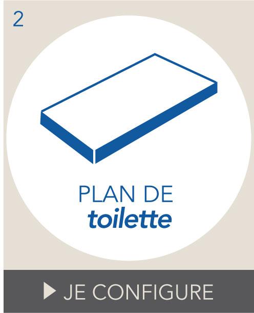 Plan de toilette salle de bains sur mesure Oskab