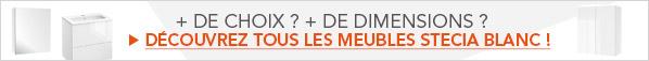 Découvrez tous les meubles de Salle De Bains Stecia Blanc