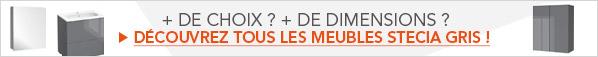 Découvrez tous les meubles de Salle De Bains Stecia Gris