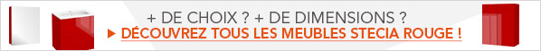 Découvrez tous les meubles de Salle De Bains Stecia Rouge