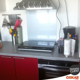 Petite cuisine fonctionnelle rouge brillante oskab - Petite cuisine fonctionnelle ...