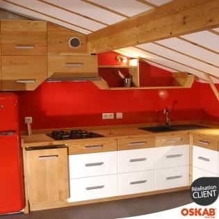 Renovation cuisine moderne blanche et traditionnelle bois for Cuisine blanche traditionnelle